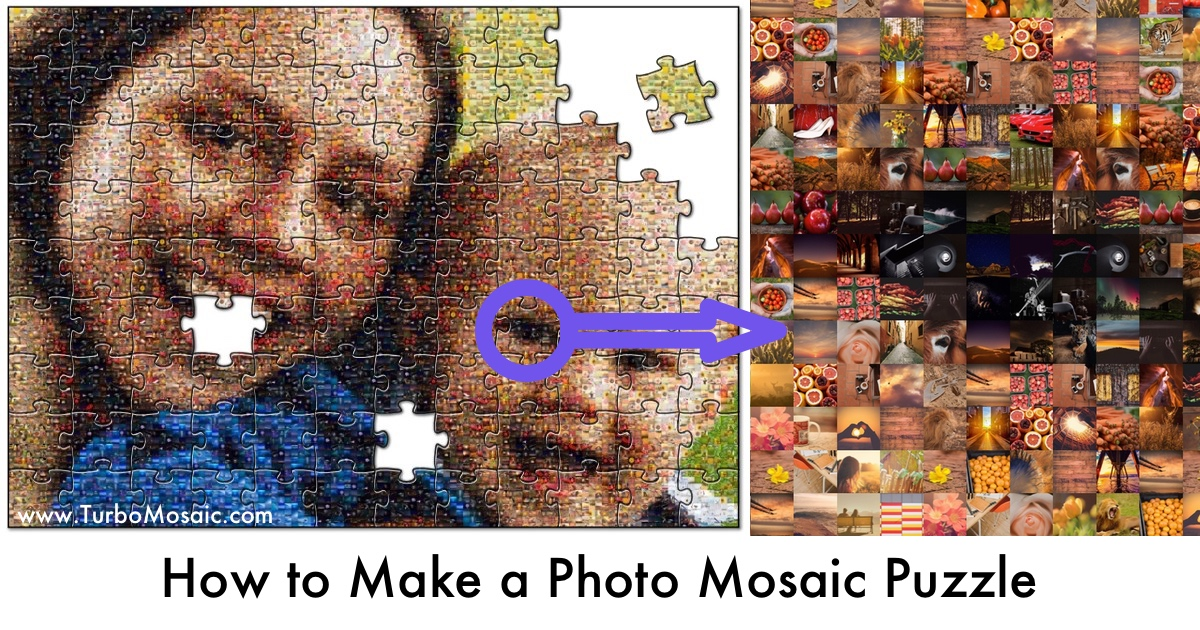 How to Make a Personalised Photomosaic Puzzle | TurboMosaic